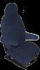 Badstof Stoelhoezen set universeel Blauw