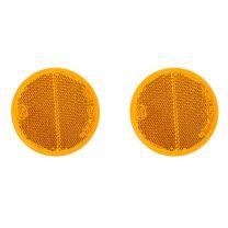 Reflector oranje 60mm zelfklevend 2 stuks