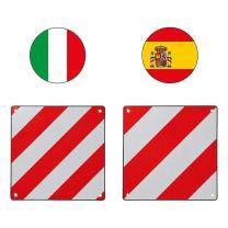 Markeringsbord 50x50cm dubbelzijdig aluminium Italië en Spanje