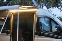 LED buitenlamp en regengoot  Fiat ducato 2006 en heden X250 X290 zwart