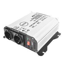 Sinus omvormer 12V-230V 300W/600W + USB