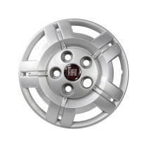 Wieldop 16 inch voorzien van origineel rood Fiat  logo
