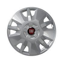 Wieldop 15 inch Fiat design 2015 met rood fiat logo