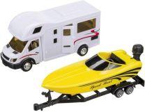 Camper speelgoed model met speedboat 1:48 van Happy people