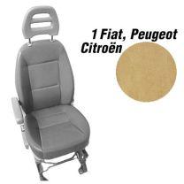 Badstof stoelhoezen set model 1 voor standaard Fiat Ducato stoelen beige