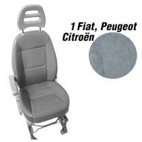 Badstof stoelhoezen set model 1 voor standaard Fiat Ducato stoelen grijs