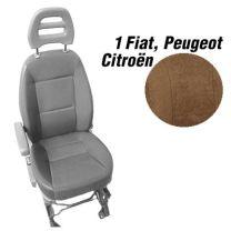 Badstof stoelhoezen set model 1 voor standaard Fiat Ducato stoelen Mokka
