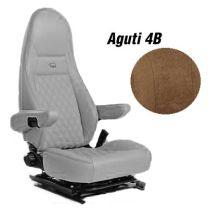Badstof stoelhoezen set 4B voor Aguti stoelen mokka