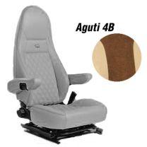 Badstof stoelhoezen set 4B voor Aguti stoelen Mokka Beige