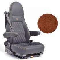 Badstof stoelhoezen set Aguti 4C stoelen met gordel espresso