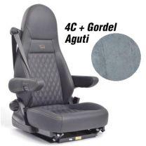 Badstof stoelhoezen set Aguti 4C stoelen met gordel grijs