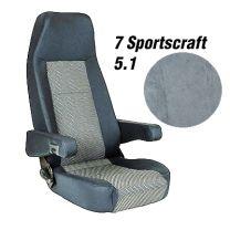 Badstof stoelhoezen set Sportscraft 5.1 grijs