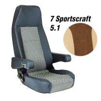 Badstof stoelhoezen set Sportscraft 5.1 Mokka Beige