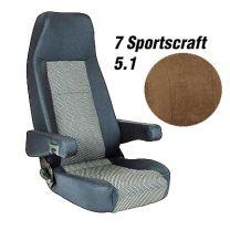 Badstof stoelhoezen set Sportscraft 5.1 Mokka