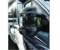 Beschermkappen voor buitenspiegels Fiat, Citroen, Peugeot camper zwart lang Heavy Duty
