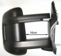 Buitenspiegel fiat ducato 2006 rechts, elektrisch, verwarmd, FM Antenne, 16W X250,X290