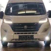 Led dagrij verlichting in voorbumper Fiat, Peugeot, Citroen 2014 - heden X290 wit