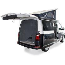 Horgordijn systeem voor achteklep voor Volkswagen T5, T6 California en Multivan