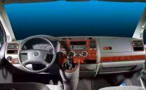 Hout inleg dashboard voor Volkswagen T5 Transporter na 2003