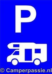 Parkeerbord voor Camper 40 x 30 cm