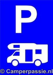 Parkeerbord voor Camper 30 x 20cm