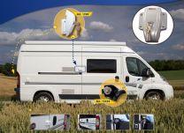 Heosafe Buscamper Sloten VAN Security Pakket voor Fiat Ducato X250 / X290 Grijs