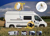 Heosafe Buscamper Sloten VAN Security Pakket voor Fiat Ducato X250 / X290 Wit
