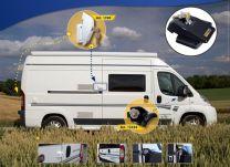 Heosafe Buscamper Sloten VAN Security Pakket voor Fiat Ducato X250 / X290 Zwart