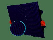 Uittrekbaar plisse zonnescherm binnenzijde 80 x 150cm