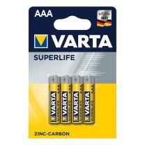 Varta Superlife batterijen AAA 4 stuks