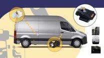 Heosafe Buscamper Sloten VAN Security Pakket voor Mercedes Sprinter na 2018 Zwart