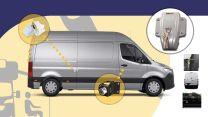 Heosafe Buscamper Sloten VAN Security Pakket voor Mercedes Sprinter na 2018 Grijs