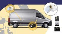 Heosafe Buscamper Sloten VAN Security Pakket voor Mercedes Sprinter na 2018 Wit