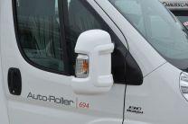 Beschermkappen wit voor buitenspiegels Fiat ducato, Citroen Jumper, Peugeot Boxer na 2006 buscamper kort